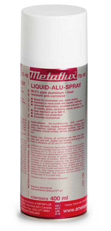 Metaflux 70-16 Revêtement métallique aluminium aérosol 400ml