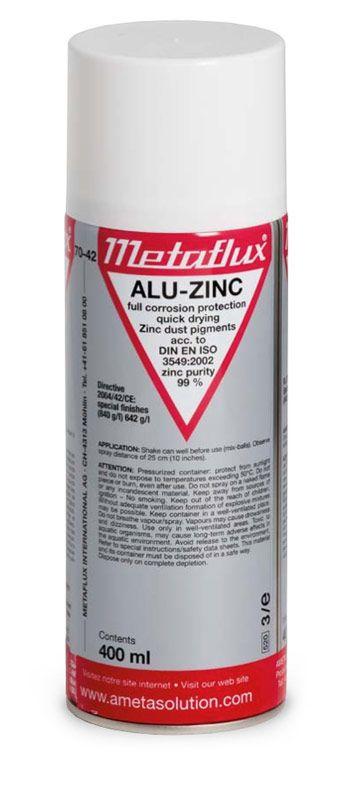 Metaflux 70-42 Revêtement métallique zinc aérosol 400ml