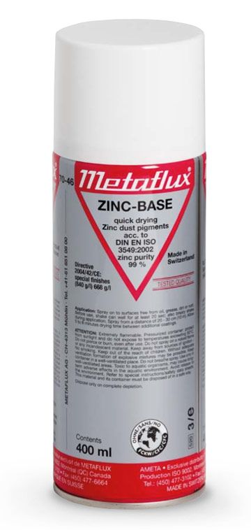 Ameta Solution 70-46 Revêtement métallique zinc aérosol 400ml