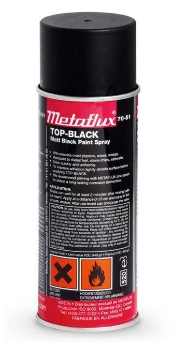 Metaflux 70-51 Peinture noire aérosol 400ml