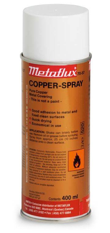 Metaflux 70-57 Revêtement métallique cuivre aérosol 400ml