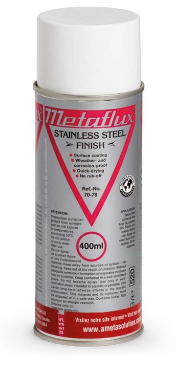 Metaflux 70-78 Revêtement métallique acier inoxydable aérosol 400ml