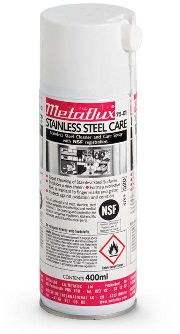 Metaflux 75-01 Nettoyant alimentaire pour acier inoxydable aérosol 400ml