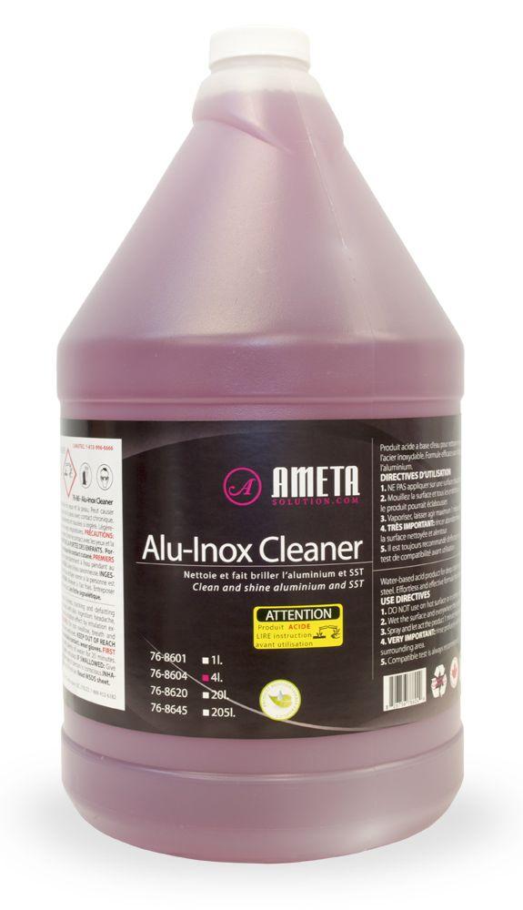 Ameta Solution 76-8604 Nettoyant liquide pour aluminium/acier inoxydable 4L