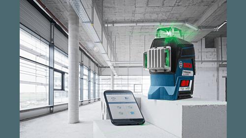 Bosch GLL3-330CG Niveau laser automatique 3 lignes 360° à faisceau vert