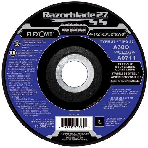 Flexovit A0221 Meule à tronçonner razorblade27ss 4