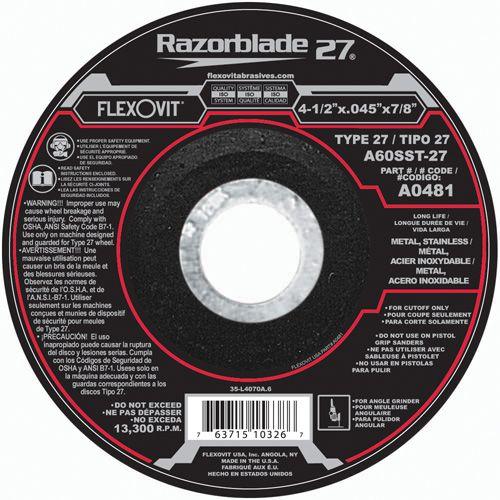 Flexovit A0481 Meule à tronçonner razorblade27® 4-1/2