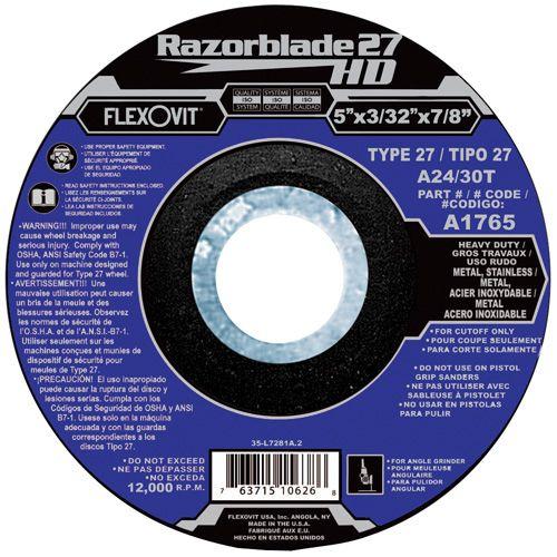Flexovit A0575 Meule à tronçonner razorblade27hd 4-1/2