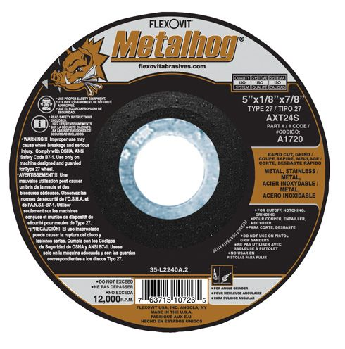 Flexovit A0720 Meule à rectifier metalhog® 4-1/2