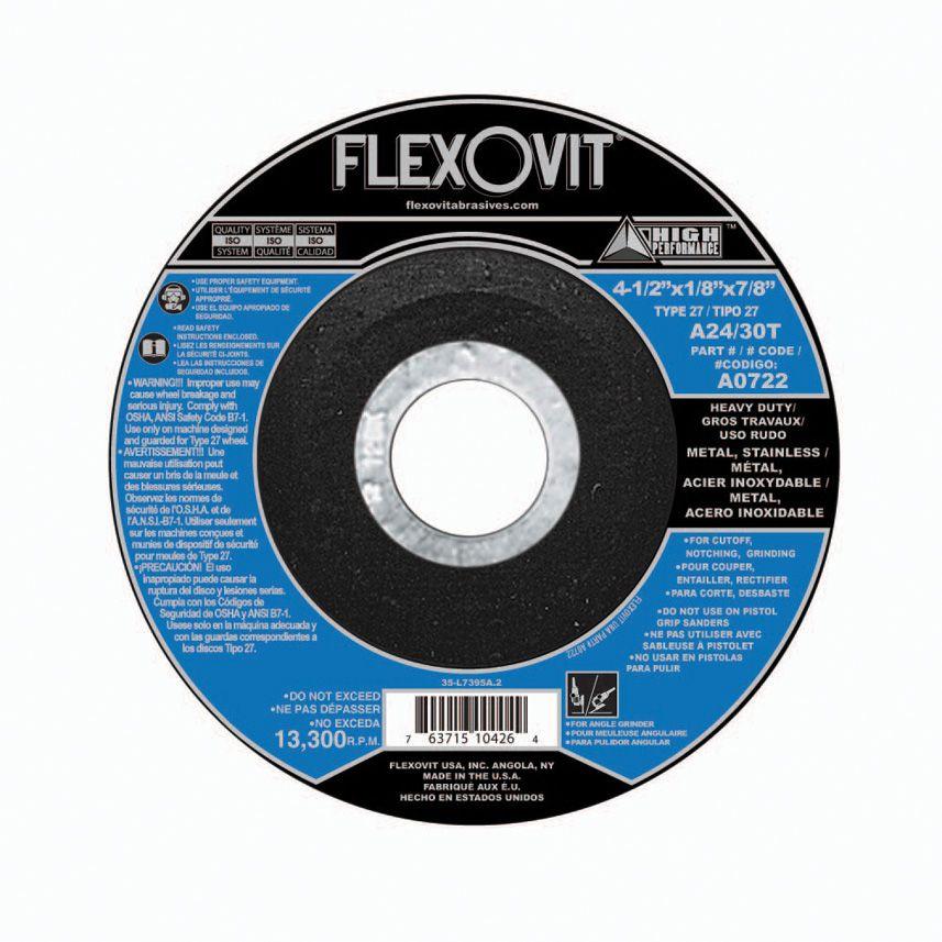 Flexovit A0722 Meule à tronçonner high performance 4-1/2