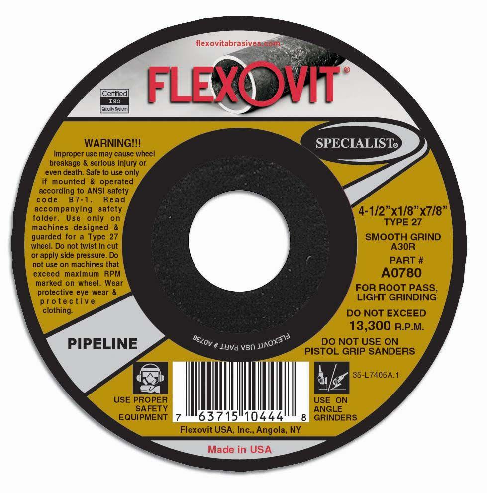 Flexovit A0780 Meule à tronçonner specialist® 4-1/2