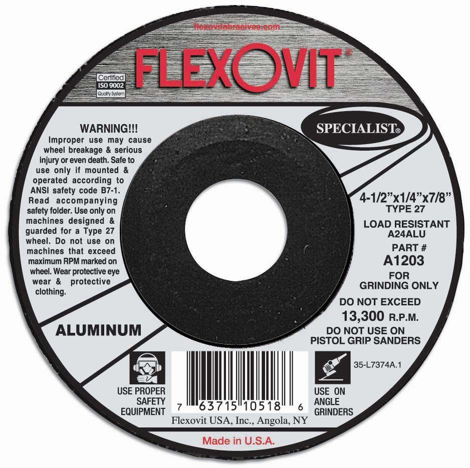 Flexovit A1203 Meule à rectifier specialist® 4-1/2