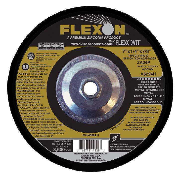 Flexovit A1224H Meule à rectifier flexon® 4-1/2