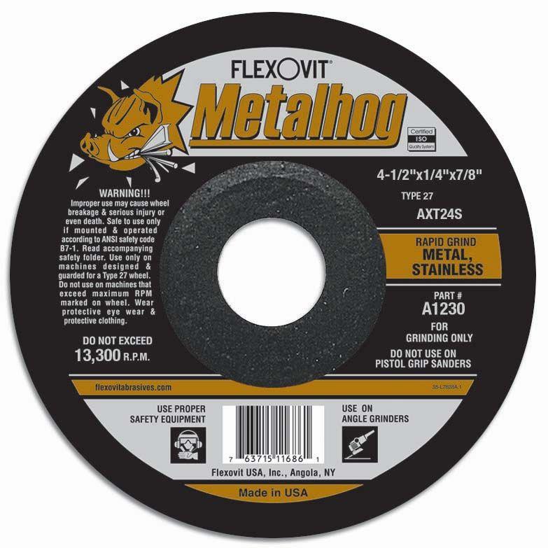 Flexovit A1230 Meule à rectifier metalhog® 4-1/2
