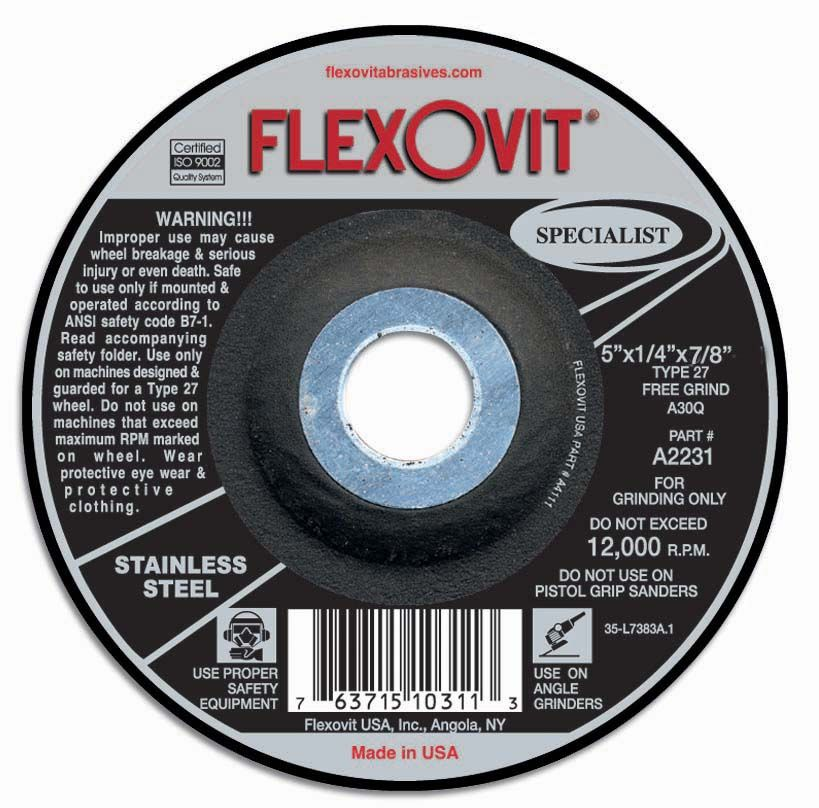 Flexovit A1231 Meule à rectifier specialist® 4-1/2
