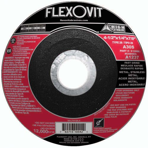Flexovit A1237 Meule à rectifier high performance 4-1/2