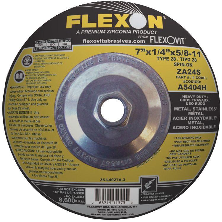 Flexovit A1334H Meule à rectifier flexon® 4-1/2