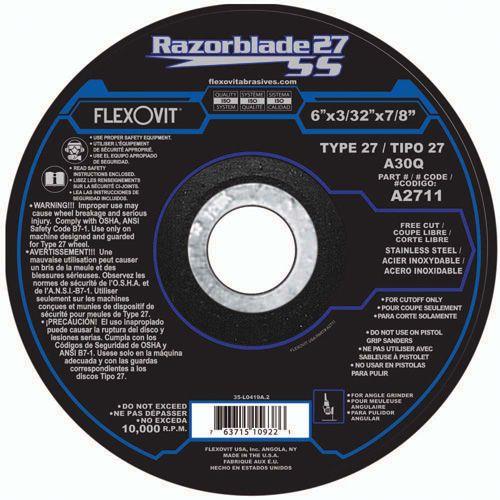 Flexovit A2711 Meule à tronçonner razorblade27ss 6
