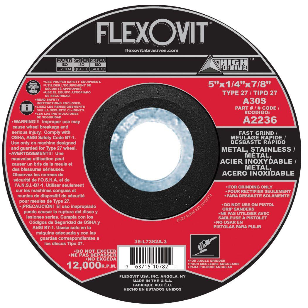 Flexovit A3236 Meule à rectifier high performance 6