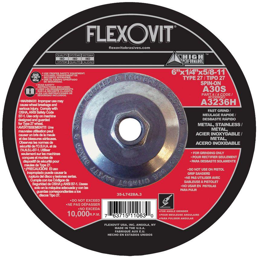 Flexovit A3236H Meule à rectifier high performance 6