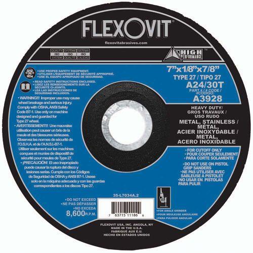 Flexovit A3928 Meule à tronçonner high performance 7