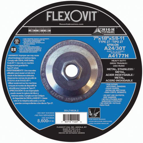 Flexovit A4177H Meule à tronçonner high performance 7