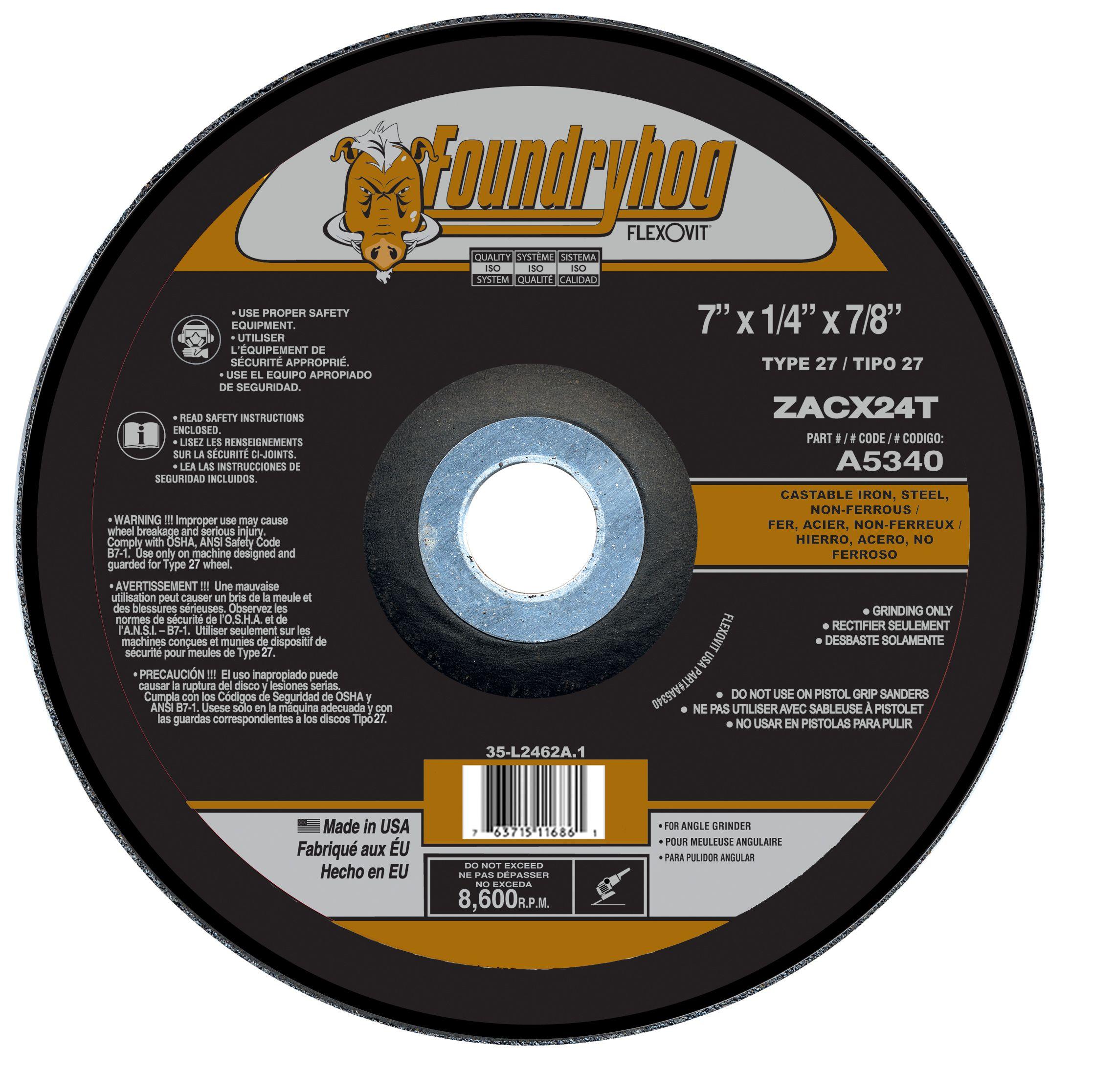 Flexovit A5345 Meule à rectifier foundryhog 7