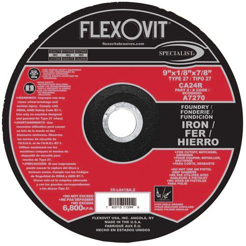 Flexovit A7270 Meule à tronçonner specialist® 9