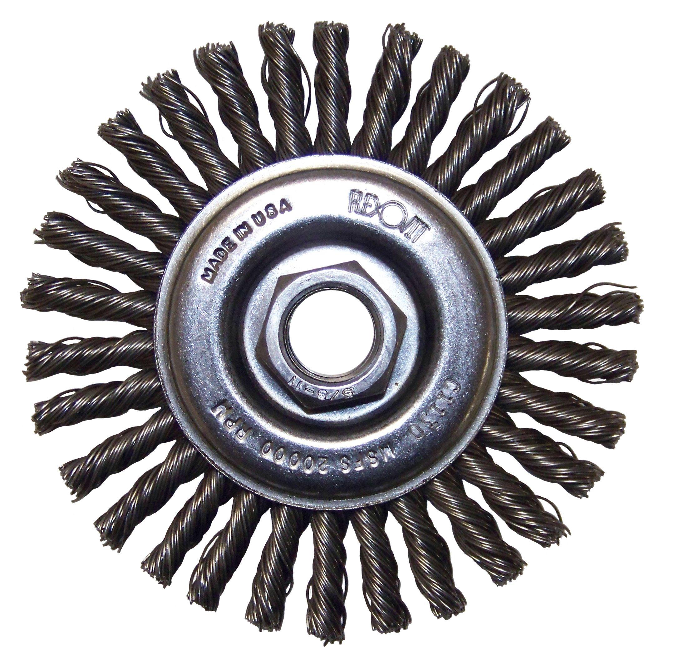 Flexovit C1200 Brosse nouée circulaire 4