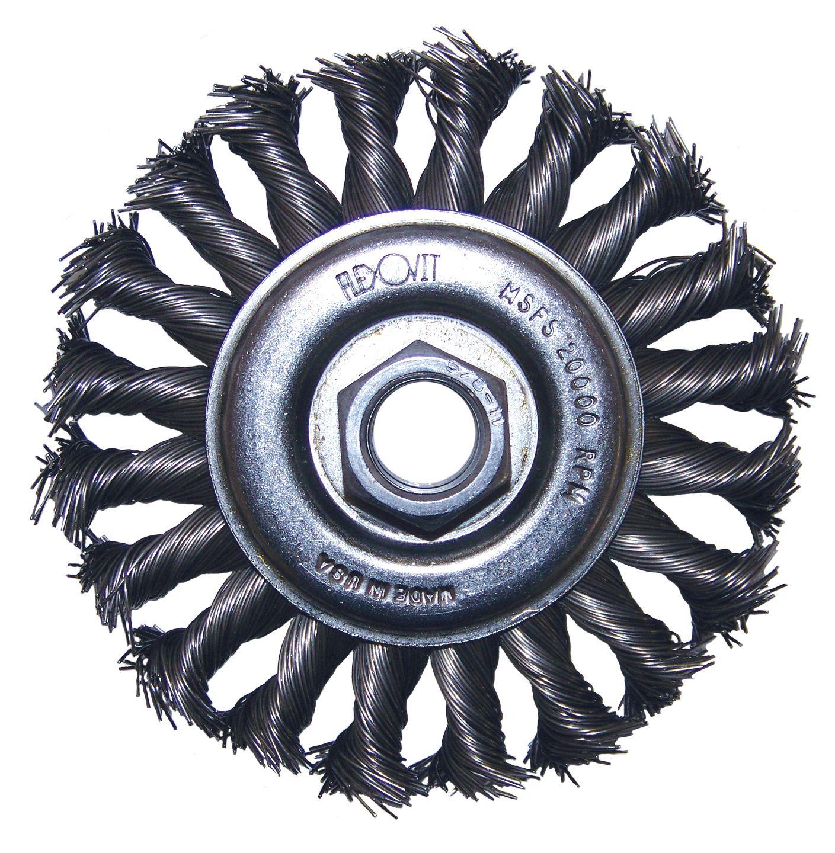 Flexovit C1310 Brosse nouée soucoupe 4