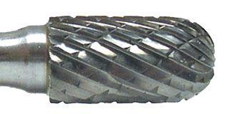 Flexovit VC20R2-6 Burin au carbure cylindrique à bout arrondi 1/2
