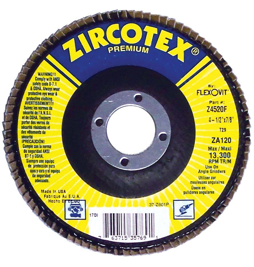 Flexovit Z4035F Disque à feuillets zircotex®premium 4