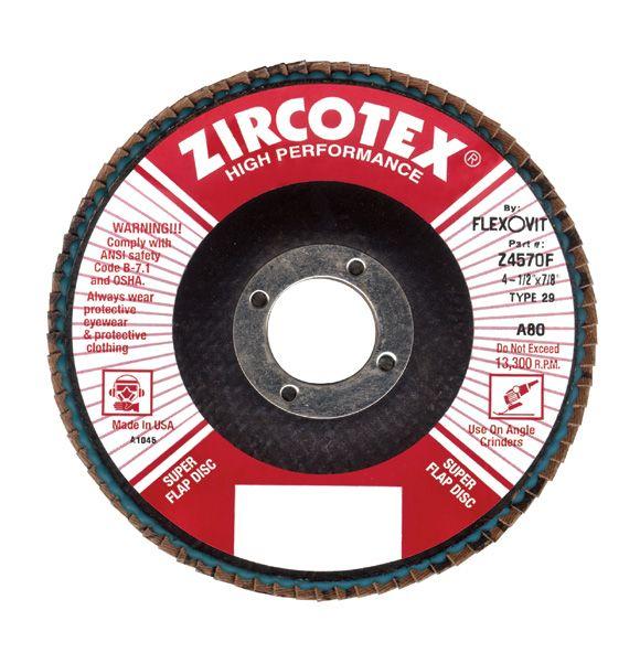 Flexovit Z4085F Disque à feuillets zircotex®haute performance 4