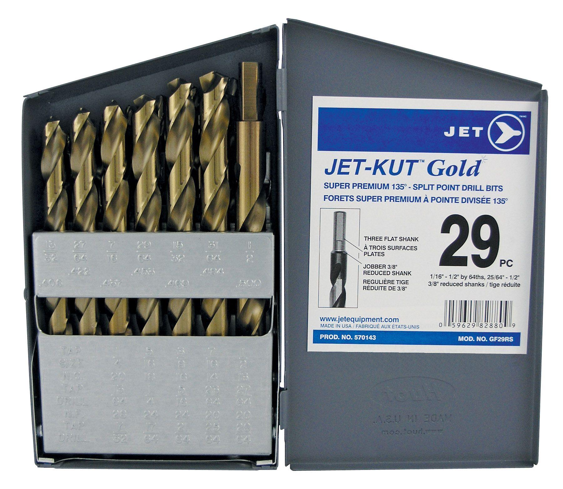 Jet 570143 Ensemble de 29 forets à métal 1/16