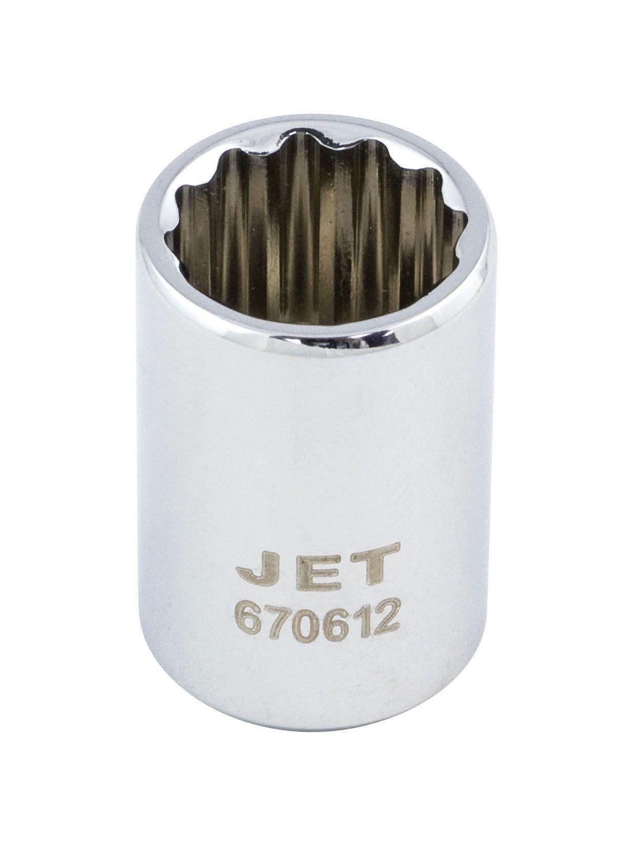 Jet 670602 Douille 4mm x 12 pans courte à prise 1/4