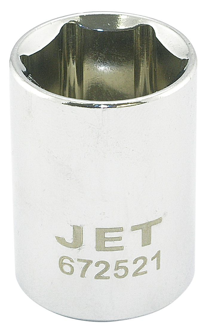 Jet 672521 Douille 21mm x 6 pans courte à prise 1/2