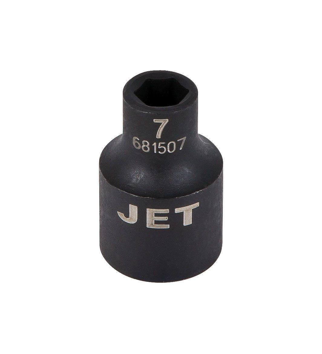 Jet 681515 Douille à chocs 15mm x 6 pans courte à prise 3/8