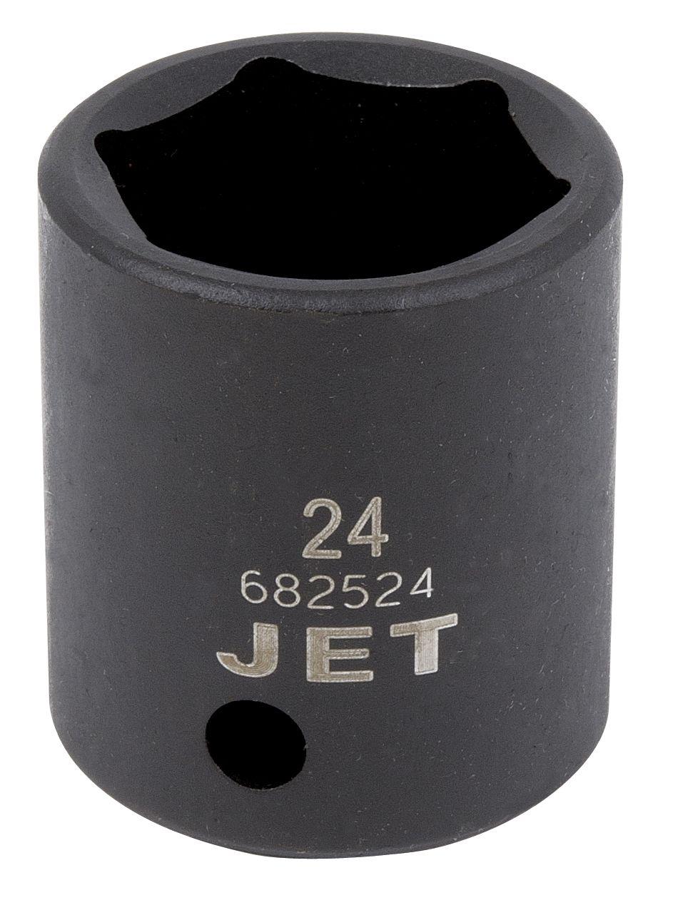Jet 682525 Douille à chocs 25mm x 6 pans courte à prise 1/2