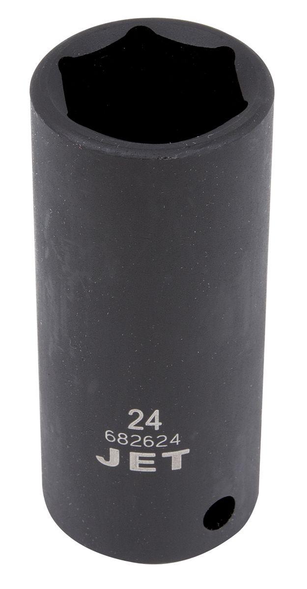 Jet 682615 Douille à chocs 15mm x 6 pans longue à prise 1/2