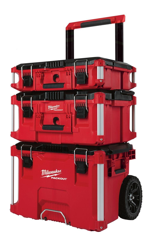 Milwaukee 48-22-8400 Ensemble de 3 Coffres roulant PACKOUT