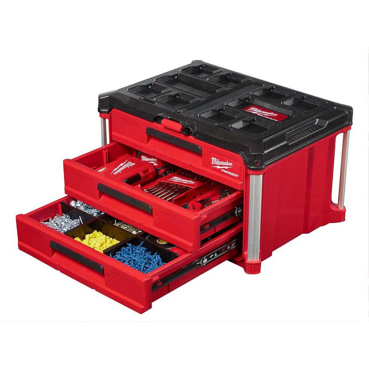Milwaukee 48-22-8443 Coffre 3 tiroirs Packout