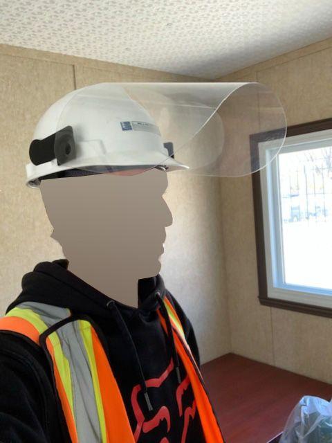 DIVERS VISIERECASQUE Support et visière pour casque de construction
