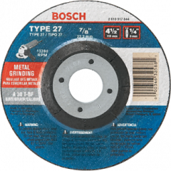 """Bosch GW27M450 Meule à rectifier 4-1/2"""" x 1/4"""" x 7/8"""""""