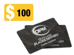 Carte-Cadeau OPM100 Outillage Placide Mathieu