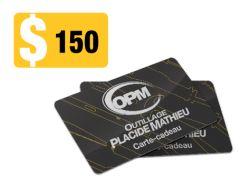 Carte-Cadeau OPM150 Outillage Placide Mathieu