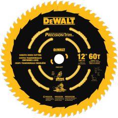 """DeWALT DW3216PT 12"""" x 1"""" 60 teeth wood saw blade"""