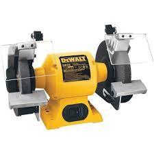 "DeWALT DW756 6"" bench grinder"