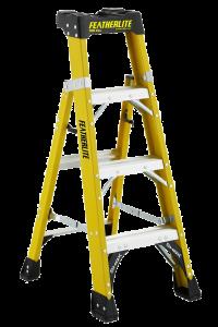 Featherlite FXS6906 6' fiberglass Cross-Step 2-in-1 step ladder