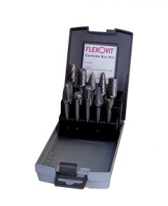 Flexovit VZKIT10 10 pcs carbide burr set ( )
