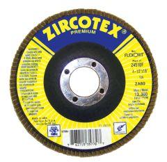 """Flexovit Z7010F 7"""" x 7/8"""" ZircoMAX®high density flap disc ( grit 80 )"""